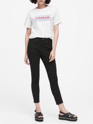 ג'ינס סקיני קרופ בגזרה גבוהה / נשים של BANANA REPUBLIC