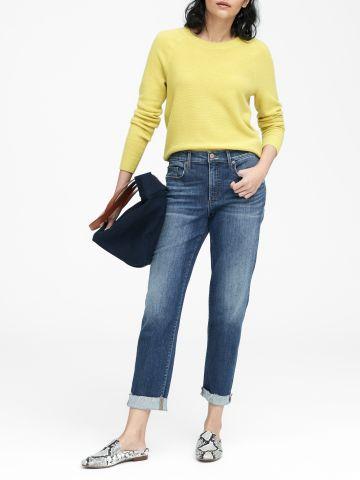 ג'ינס ארוך בגזרה ישרה Mid-Rise Straight / נשים של BANANA REPUBLIC