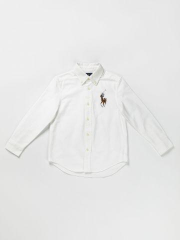 חולצה מכופתרת רקמת לוגו / 24M-3Y של RALPH LAUREN