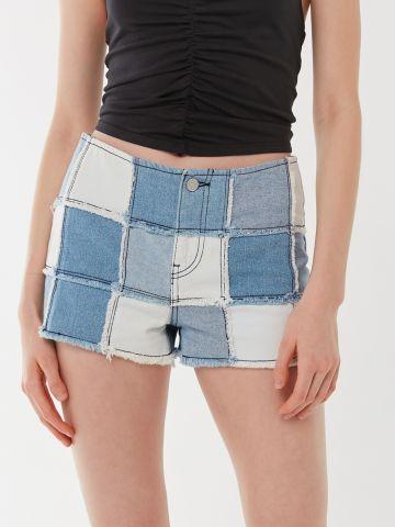 ג'ינס קצר עם פאצ'ים BDG של URBAN OUTFITTERS