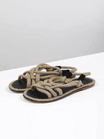 סנדלים עם רצועות חבלים / נשים של TERMINAL X
