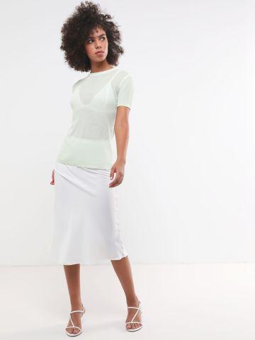 חצאית מידי סאטן של TERMINAL X