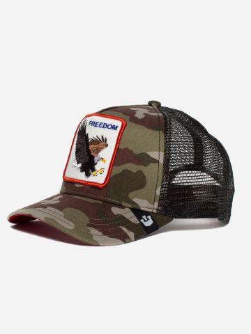 כובע מצחיה קמופלאז' עם פאץ' נשר Freedom של GOORIN BROS