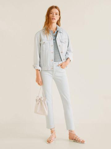 ג'ינס קרופ בגזרת סלים-פיט של MANGO