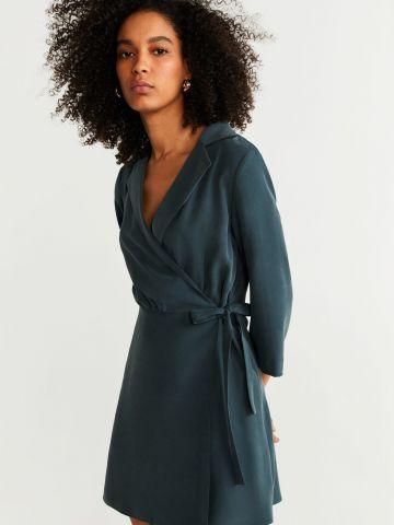 שמלת מיני עם קשירה של MANGO