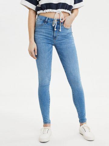 ג'ינס סקיני גבוה בשטיפה בהירה Super high rise jegging של AMERICAN EAGLE