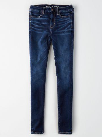ג'ינס סקיני סטרצ' בשטיפה כהה High Rise Jegging של AMERICAN EAGLE