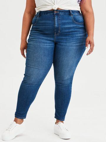ג'ינס CURVY ארוך super high-waisted של AMERICAN EAGLE