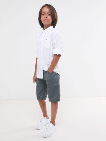 חולצה מכופתרת עם כיס ולוגו של AMERICAN EAGLE