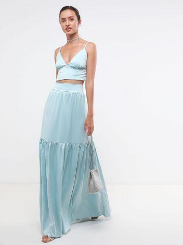 חצאית מקסי קומות סאטן X נטע אפרתי של YANGA