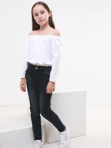 ג'ינס סקיני סטרץ' בשטיפה כהה של AMERICAN EAGLE
