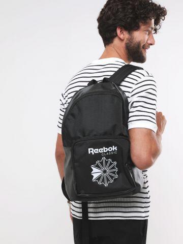 תיק גב שני תאים עם לוגו של REEBOK
