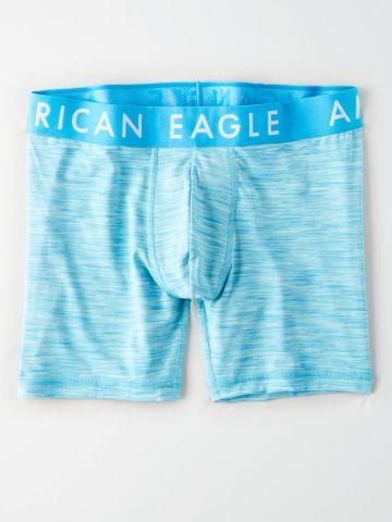 תחתוני בוקסר לונגליין מלאנז' עם לוגו של AMERICAN EAGLE
