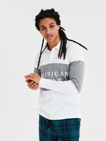 חולצת פולו קולור בלוק של AMERICAN EAGLE