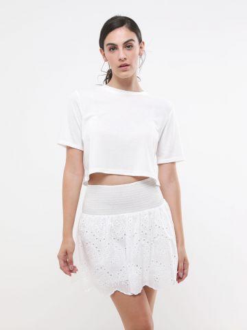 חצאית מיני עם רקמה של TERMINAL X