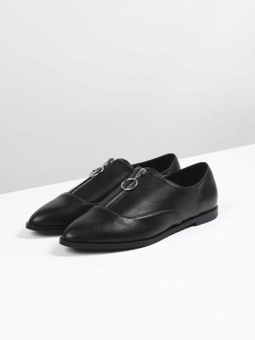 נעלי אוקספורד דמוי עור עם רוכסן / נשים של TERMINAL X
