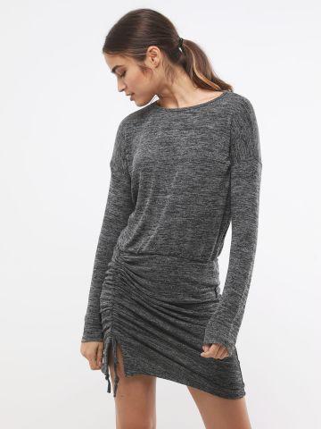 שמלת מיני מלאנז' עם כיווצים של TERMINAL X