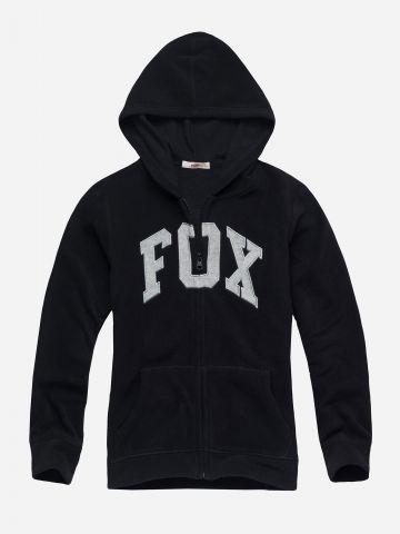 סווטשירט פליז עם רקמת לוגו / בנות של FOX