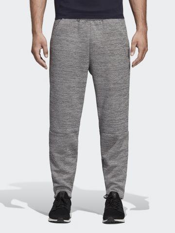 מכנסי טרנינג ארוכים מלאנז' עם לוגו של ADIDAS Performance