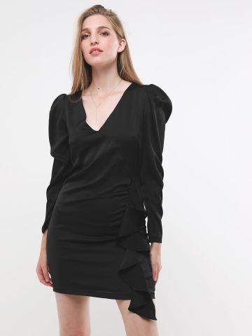 שמלת סאטן מיני עם מלמלה של TERMINAL X