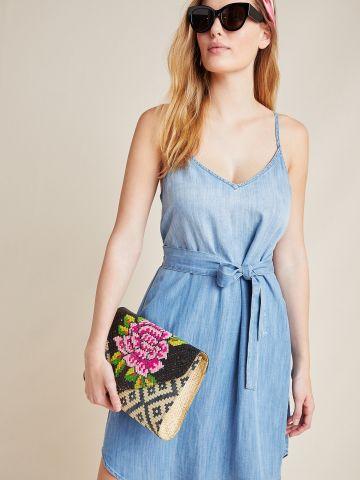 שמלת מיני וי עם חגורת קשירה במותן Cloth & Stone של ANTHROPOLOGIE