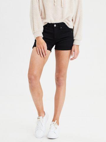 ג'ינס קצר עם קיפולים Double Roll של AMERICAN EAGLE