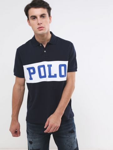 חולצת פולו עם הדפס לוגו Slim Fit של RALPH LAUREN
