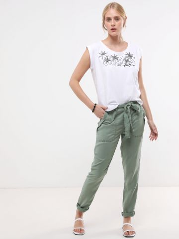 מכנסיים ארוכים עם חגורת קשירה של PEPE JEANS