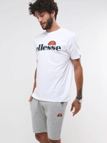 מכנסי טרנינג קצרים עם פאץ' לוגו של ELLESSE