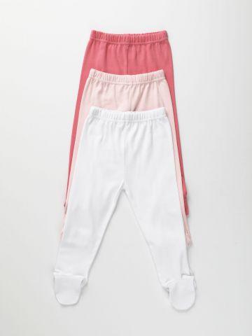 מארז 3 מכנסיים עם רגליות / 0-12M של FOX