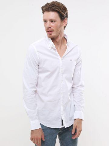 חולצה מכופתרת עם רקמת לוגו של TOMMY HILFIGER