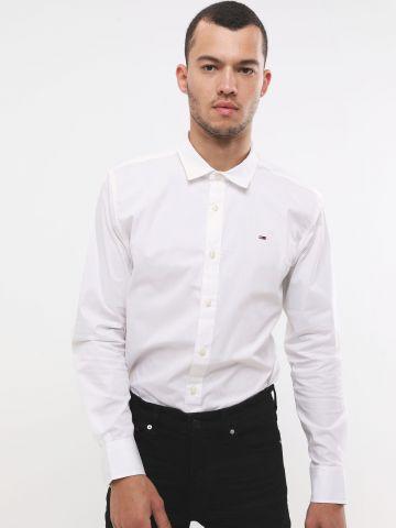 חולצה מכופתרת קלאסית עם רקמת לוגו של TOMMY HILFIGER