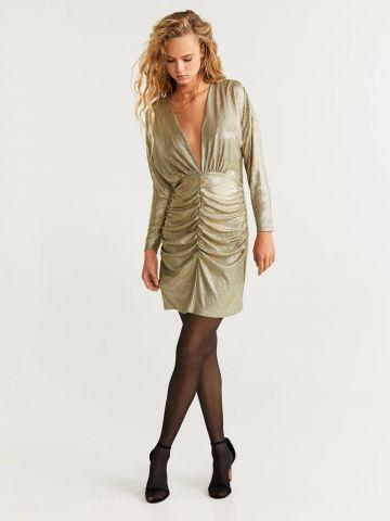 שמלת לורקס מיני עם כיווצים של MANGO