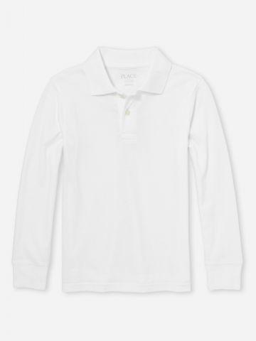 חולצת פולו שרוולים ארוכים / בנים של THE CHILDREN'S PLACE