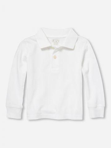 חולצת פולו שרוולים ארוכים / 9M-4Y של THE CHILDREN'S PLACE