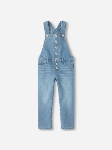 אוברול ג'ינס עם כפתורים / בנות של THE CHILDREN'S PLACE