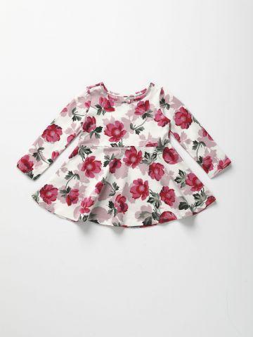 שמלה בהדפס פרחים עם שרוולים ארוכים / 6M-5Y של THE CHILDREN'S PLACE
