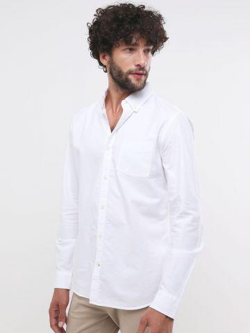 חולצה מכופתרת עם כיס בחזית של GAP
