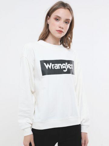 סווטשירט עם הדפס לוגו של WRANGLER