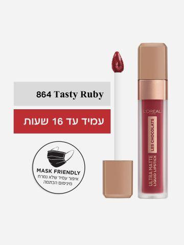 שפתון שוקולד עמיד Ultra Matte Tasty Ruby של L'OREAL PARIS