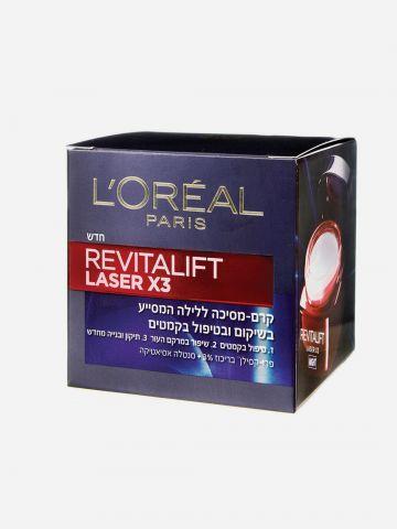 קרם לילה אנטי-אייג'ינג Revitalift Laser X3 Renew Night Cream של L'OREAL PARIS