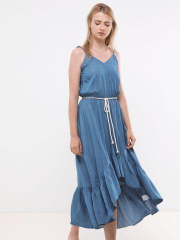 שמלת מקסי עם סיומת אסימטרית של YANGA