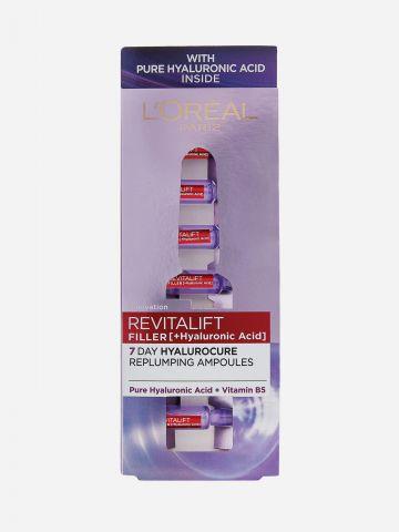 אמפולות עם חומצה היאלורונית Revitalift Filler Replumping Ampoules של L'OREAL