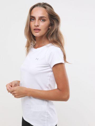 חולצת אימון HeatGear עם הדפס לוגו של UNDER ARMOUR
