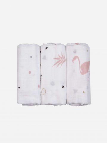 מארז 3 חיתולי מיני במבוק בהדפסים שונים / בייבי של NINO