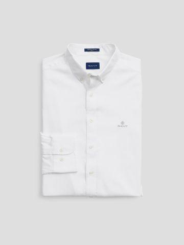 חולצה מכופתרת שרוולים ארוכים עם רקמת לוגו Slim-Fit / גברים של GANT