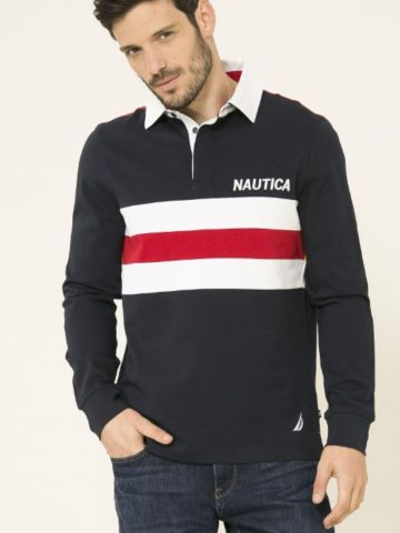 חולצת פולו לוגו קולור בלוק של NAUTICA