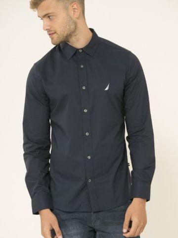 חולצה מכופתרת עם רקמת לוגו Tailored Fit של NAUTICA