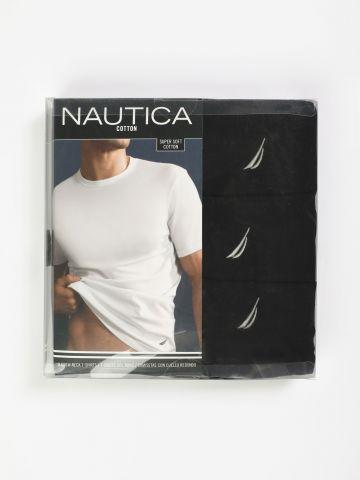 מארז 3 טי שירטים עם לוגו Black / גברים של NAUTICA