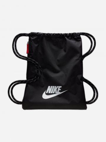 תיק שק ניילון עם הדפס לוגו של NIKE
